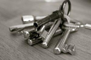 key, metal, house