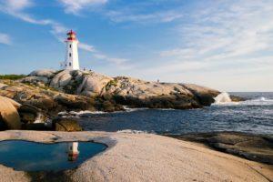 lighthouse, ocean, sea